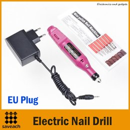 Wholesale Foot Nail Electric File - 20000rpm EU Plug Professional Electric Manicure Machine Nail Drill art Pen Pedicure File Polish Shape Tool Feet Care Product