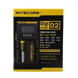 Wholesale Battery Charger Lcd Display - NITECORE D2 Digicharger Intelligent LCD Display Universal Smart Charger for IMR,Li-ion,Ni-MH Ni-Cd Rechargeable Batteries for Retail Orders