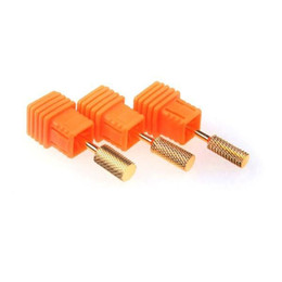 Wholesale Nail Drill Bit Sizes - Wholesale-2015 New Arrival Super 3 Sizes Professional Golden Electric Nail Drill Bit Manicure Pedicure Tools SM27 Wholesale