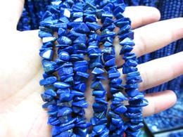 Wholesale Gemstone Freeform - 6-12mm 40inch genuine lapis lazulie gemstone irregular chips freeform blue jewelry bead