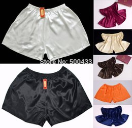 Wholesale Silk Boxers Free Shipping - Wholesale-1Pc Mens 100% Mulberry Silk Sport Athletic Gym Jogging Football Boxer Short Trunks Size S-3XL Free shipping Rich colors
