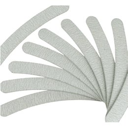 Wholesale Manicure Brand - Brand new professional 500pcs Grey Nail Files Sanding 100 180 Curve Banana for Nail Art Tips Manicure DHL free shipping