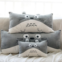 Wholesale Minions 25cm - Wholesale-Free shipping 40 * 25cm plush Totoro pillow, cartoon Children's Pillow, minions   Despicable Me pillow plush toys