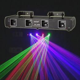 Wholesale Green Dpss Laser - HOT SHINP 4 Lens 7CH DMX 512 RGBP Laser DPSS Scanner Equipment Stage Lighting PRO DJ Party Disco Show System Lights DL-55B