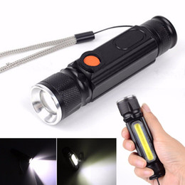 2019 magneti lampeggianti Magnete lampada da campeggio mini usb torcia a led cree xml t6 torcia ricaricabile lanterna a led impermeabile zoom 18650 batteria flash magneti lampeggianti economici