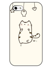 Wholesale Durable Mobile Phone Case - Wholesale Cat Fishing Skin Durable Hard Plastic Mobile Protective Phone Case Cover For Iphone 4 4S 5 5S 5C
