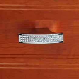 Wholesale Furniture Handles Crystal - Crystal Glass Drawer Dresser Knob Pulls Kitchen Cabinet Handles Knobs Modern Furniture Handle Bling Hardware