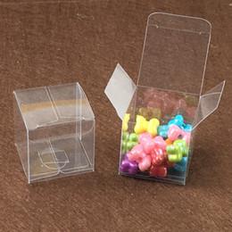 Argentina Impermeabilice 100PCS / Lot 4x4x4cm Cajas transparentes del paquete del regalo del PVC Exhibición plástica de la caja transparente del PVC para el caramelo / la joyería / el regalo / el chocolate Suministro