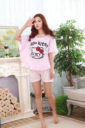 Wholesale Plus Size Stripper Lingerie - Sexy Lingerie cute kitty women leisure pajamas set sleepwear stripper nightwear