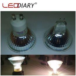 Wholesale Clear Quartz Lamp - Wholesale-10Pcs Lot Dimmable MR16 JCDR GU5.3 Halogen Spot Light 220V 35W 50W Super Bright Halogen Bulbs Cup Shape Lamp Clear Quartz Glass