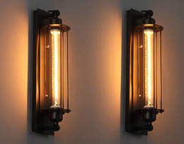 Wholesale Country Style Light Fixtures - American Style Edison Vintage Industrial Wall Sconce Lamp  Edison Lighting Fixture