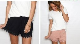 Wholesale Woman Tribal Shorts - Solid Color Women Shorts High Waisted Festival Tribal Print Beach Casual Gym Shorts