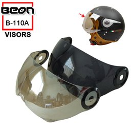 Wholesale Motorcycle Helmet Electric Visor - Free shipping!Fashion motorcycle helmet half face lens,electric bicycle capacete visor mirror, For Beon B-110A PC Anti-UV Lens