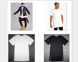 3d256e2a56d New Fashion Black White Plus Size Long Zipper Streetwear Swag Man Hip Hop  Skateboard T shirt Top Tees Men Clothing