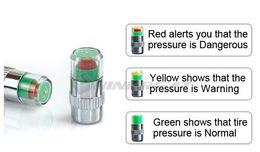 Wholesale Tire Pressure Alert Valve Caps - Wholesale-Car Tyre Tire Pressure Monitor Indicator Valve Stem Cap Sensor 3 Color Eye Alert wholesale Dropshipping