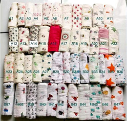 Wholesale Animal Print Infant Robe - 120*120cm muslin blanket aden anais baby swaddle wrap blanket blanket towelling baby spring summer baby infant blanket free fedex shipping
