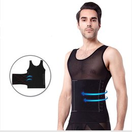 4d41db1e97f14 Flat Stomach Body Shaper For Men Waist Trainer Firm Shaping fat burning Slim  Male Lift Vest Tank Tops Black White Underwear