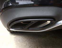 Edelstahl-Auspuffrohr-Zierleisten für Mercedes-Benz A B C E GLC GLE Klasse W176 W246 W205 W213 AMG