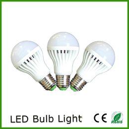 Wholesale Led E27 Lm - DHL Free Shipping Energy Saving A60 A19 110V 220V 7 Watt E27 B22 LED Light Bulbs 550 lm (equiv to 40 watts)