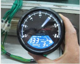 Wholesale Digital Universal Gear - 2015 12000 RMP kmh mph Universal LCD Digital Odometer Speedometer Tachometer Gear indicator Motorcycle Scooter Golf Carts ATV