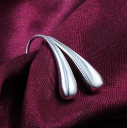 flor de plata mate Rebajas Pendiente de la manera joyería de las mujeres Pendientes de plata joyería 925 Pendientes de lágrimas de plata bonita joyería 15pairs / lot Venta caliente