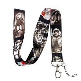 Wholesale Marilyn Monroe Lanyards - Free Shipping 30 pcs High quality Sexy Women Marilyn Monroe PHONE LANYARD KEYS ID NECK STRAPS