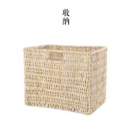 Wholesale Storage Baskets Japanese - Japanese-style Desktop Storage basket remote pastoral knit magazine basket Storage basket can hang outdoor terrace hanging baske