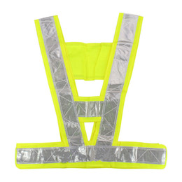 Wholesale Yellow Reflective Vest - Security Jacket Safety Vest Warning For Traffic Reflective Vest Fluorescent Yellow Work Wear Uniforms Outdoor Clothes