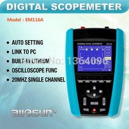 Wholesale Single Channel Oscilloscope - Wholesale-all-sun EM116A Handheld digital scopemeter 20MHz single channel light weight digital oscilloscope
