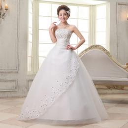 Wholesale Modern Sexy Korean - 2016 Hot Sale Sweetange Korean Style Bride Wedding Dress Lace Cheap Wedding Dresses China
