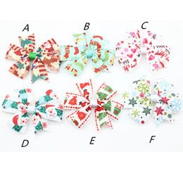 Wholesale Merry Christmas Baby - Merry Christmas kids girl 6style hair Clips choose Children girl Snowman Christmas Barrettes Baby Hair Stage Accessories Hair Clips 100pcs