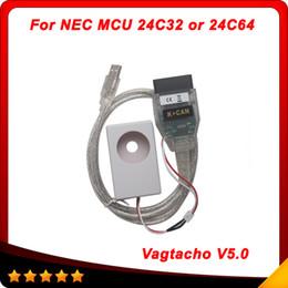 Wholesale Ship Tunning - Vagtacho USB Version V 5.0 VAG Tacho For NEC MCU 24C32 or 24C64 2014 Professioanl ECU Chip Tunning Tool10pcs Lot DHL free shipping