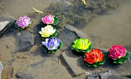 2019 acqua fluttuante artificiale di loto 13 cm di diametro bellissimo fiore di loto artificiale fiori d'acqua galleggianti per l'ornamento di Natale decorazione della festa nuziale forniture acqua fluttuante artificiale di loto economici