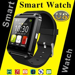 Wholesale Good Messaging Phones - Bluetooth Smart Watch U8 Smartwatch U Watch For iOS iPhone Samsung Sony Huawei Android Phones Good as GT08 DZ09 U80