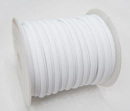 Wholesale Cord Wire Elastic - 30colors 5mm 20m  Row Elastic lycra cord Stitched round lycra cord Lycra strip For Neckalace and Bracelet