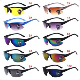 Wholesale Cheap Uv - New arrival cheap Night vision goggles sunglasses driving cycling UV polarized sunglass sport glass new brand men sun glasses good quality