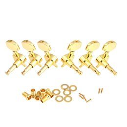Wholesale Guitar Parts Pegs - 6pcs set 3L 3R Gold Sealed Guitar String Tuning Pegs Tuners Machine Heads 3L 3R Guitar Parts I316 With Heavy duty Internal Gear