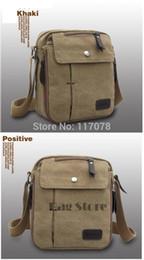 Wholesale Military Laptop Messenger Bag - Wholesale-New Men's Vintage Canvas School Satchel Military Laptop Shoulder Messenger Bag SV004507