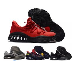 Wholesale Hard Walls - Cheap Crazy Explosive Low Men's Casual shoes Red White Black Andrew Wiggins Crazy Explosive Youth Wall 3 Boost Casual shoes Size 7-12