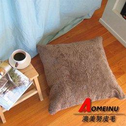 Wholesale Sheepskin Car Cushion - Pure wool sheepskin cushion pillow sofa cushion core car cushion