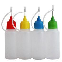 Botellas de aguja de ejuice online-10 ml Botella Eliquid Botella e-líquido Niños Prueba Botella Botella Agujas PE Botellas Eliquid Ejuice DHL Envío