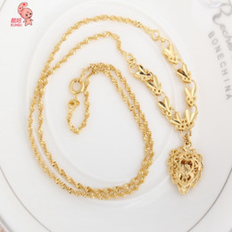 Wholesale Heart Pedant - 2015 Kuniu New Fashion Jewelry 18K Gold Plated Love Heart Pedants Hollow Neckalce For Women Statement Collar Necklaces Sweater