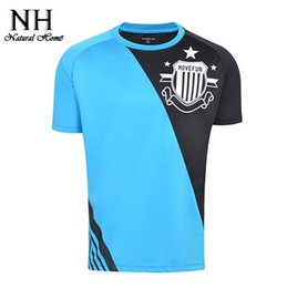 Wholesale Wholesale Outdoor Sportswear - Wholesale-New fashion Black Blue Yellow high quality quick drying short sleeved T shirt men's outdoor casual sportswear clothes shirts