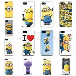 Wholesale Despicable Hard Case Iphone - Wholesale-2015 New hard Case for iPhone 5 5s Mobile Phone bags & cases for Apple iPhone 5 s Despicable Me Yellow Minion Style Back Cover