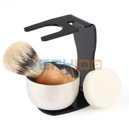 Wholesale Mens Electric Hair - Luxurious Mens Mix Badger Hair Shaving Brush+Acrylic Stand Holder OR + Stainless Steel Bowl +Soap Set order<$18no track