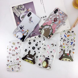Wholesale Iphone Anime Casing - Air Cushion Cute Totoro anime TPU Phone Shell Case for iPhone 7 8 Plus X For Samsung Galaxy Note 8 S8 S8 plus