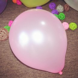 Wholesale Plastic Baloon - 1.2g Helium Birthday Wedding Decoration Colorful Balloon Baby Toy Pearl Baloon 100pcs Lot Mix Color  Free Shipping