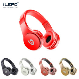 Wholesale headphone foldable - S55 Wireless Headphones Bluetooth Gaming Headset Stereo Music Support TF Card With Mic Foldable Headband Retail Box Better Bluedio