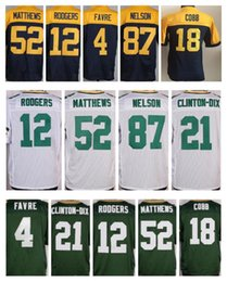 Wholesale Packers Green - Mens 21 Clinton-Dix packer 87 Jordy Nelson 27 Eddie Lacy 12 Aaron Rodgers 52 Clay Matthews 100% Stitched Jerseys Green Free Shipping