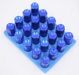 Wholesale Racing Lug Wheel Nuts - Deep Blue 20PCS 12 x 1.5mm Security wheel locks Racing Wheel Lug Nuts Screw Kit